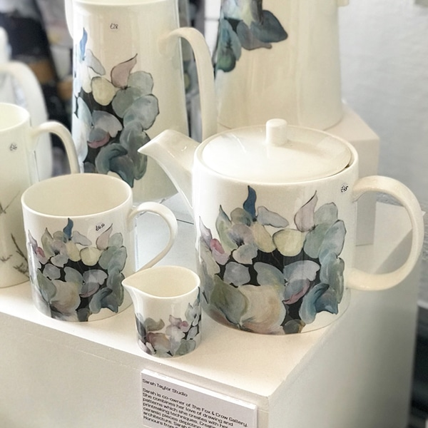BH Teapot mug and creamer