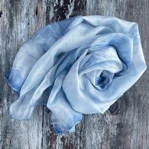 CY indigo scarf swirl