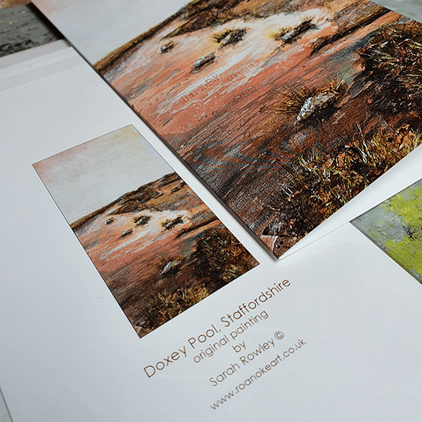 Doxey Pool Greeting Card by Sarah Rowley
