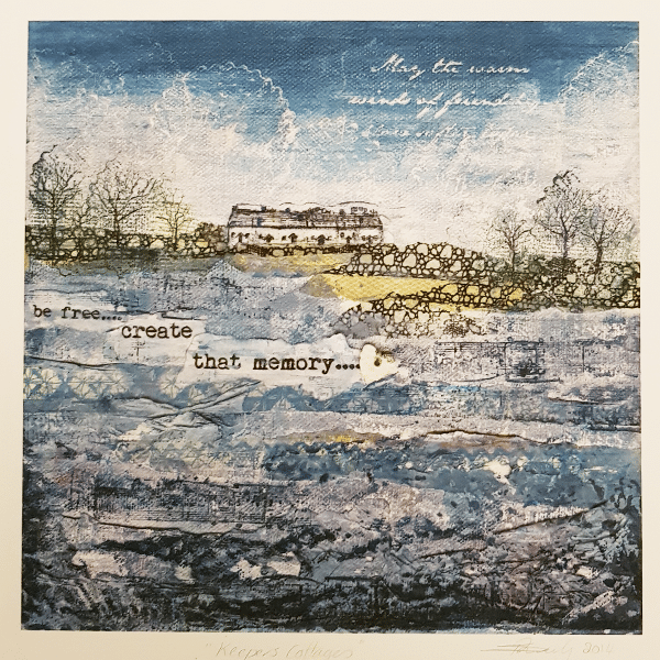 Keepers Cottages Print by Sarah Rowley
