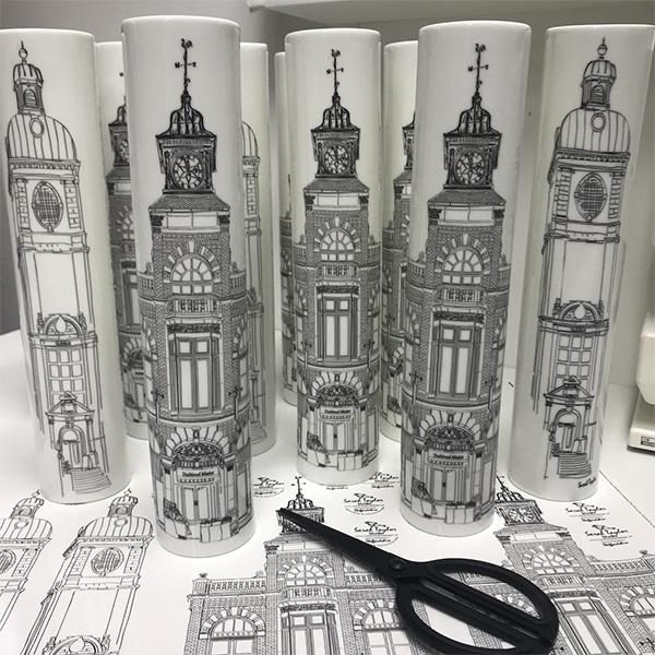 Leek Architechture vases