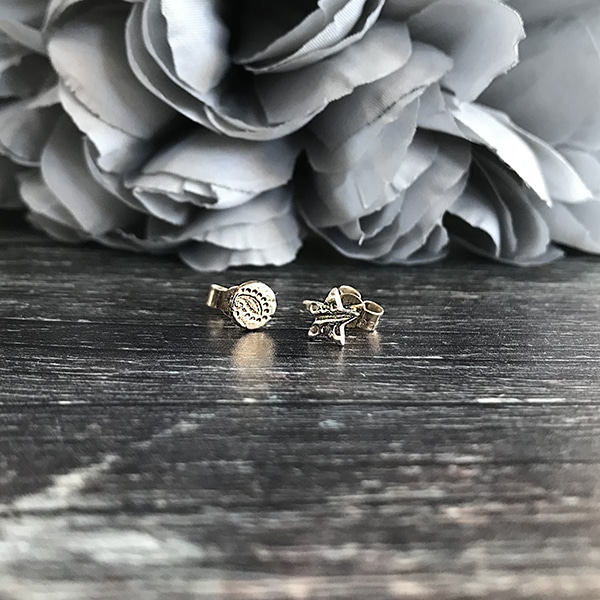 87 star and moon small studs