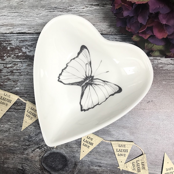 Butterfly heart bowl small