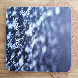 Grey Mesh Coasters by Sarah Rowley from Roaonokeart.co .uk