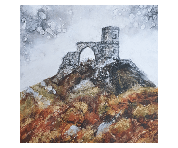 Home Mow Cop Castle Print by Sarah Rowley from Roaonokeart.co .uk