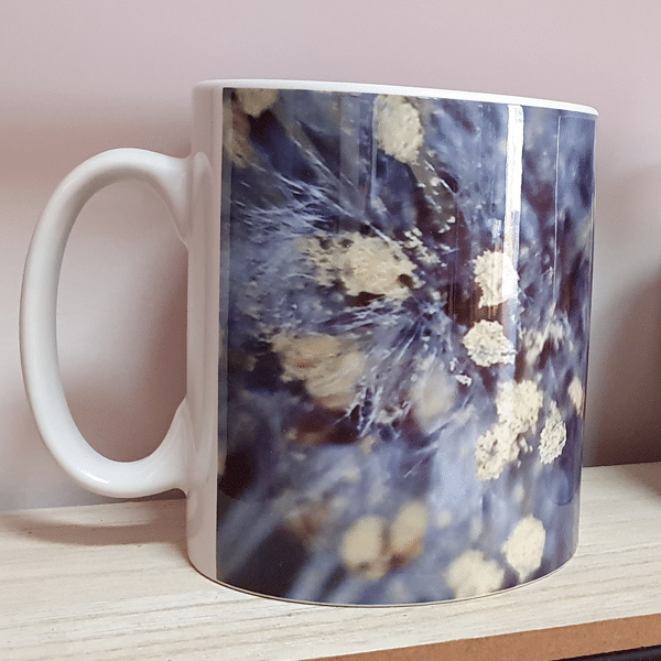 cornflower mugs by Sarah Rowley from Roaonokeart.co .uk