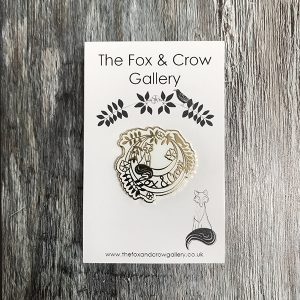 Fox and crow pin 2