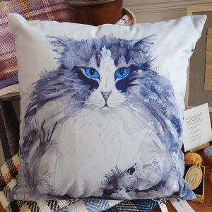 Cushion by Sarah Rowley from Roaonokeart.co.uk