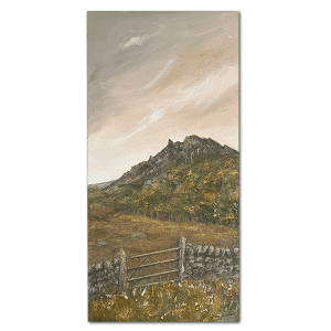 Gateway to The Roaches Mixed media Art by Sarah Rowley