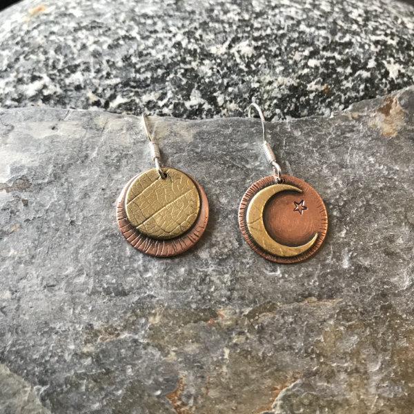 Moon Odd Pair Earrings