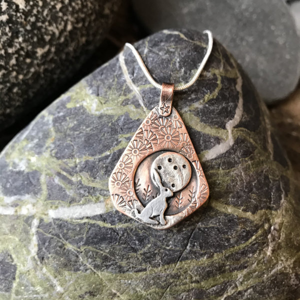 NHM1C Harvest Hare Moon Necklace
