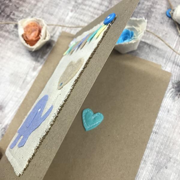 Card blue elephant inside