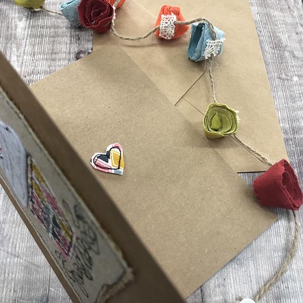 Card cupcake inside