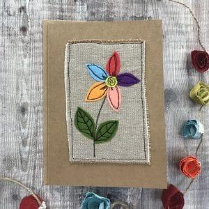 Card flower