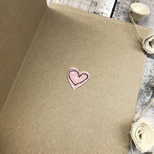 Card wedding cake inside a