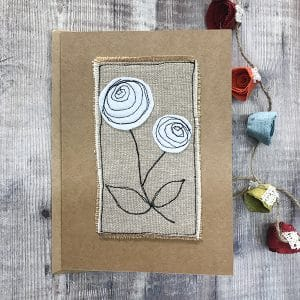 Card white flower a
