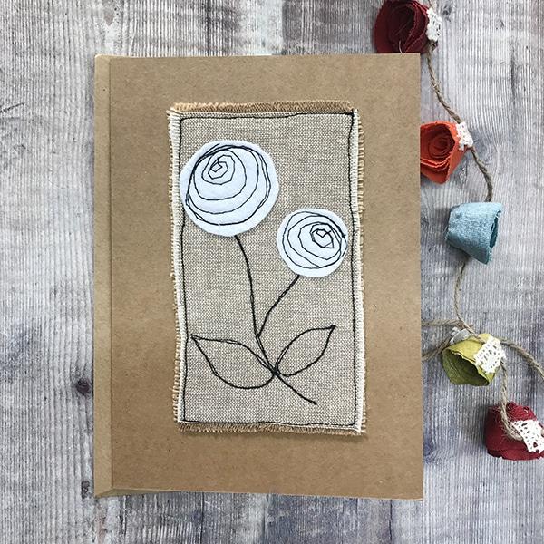 Card white flower a