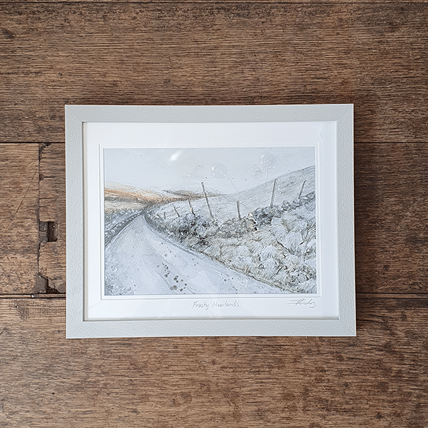 Print of Frosty Moorlands by sarah rowley