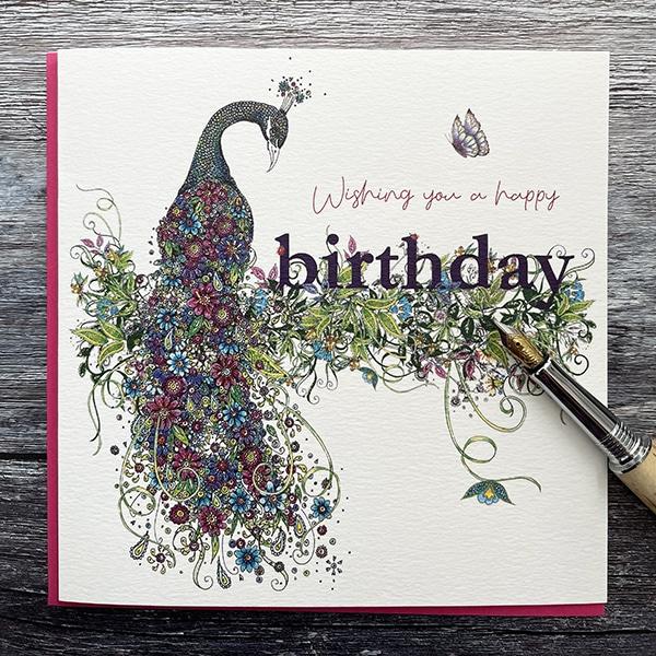 Birthday peacock doodleiscious