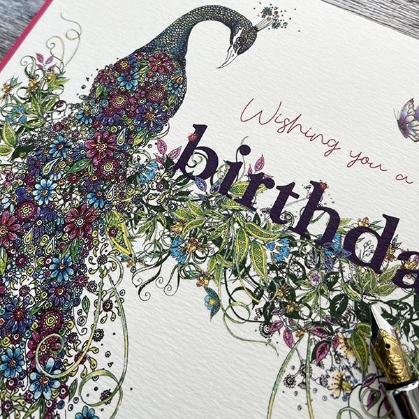 Doodleiscious birthday peacock close up