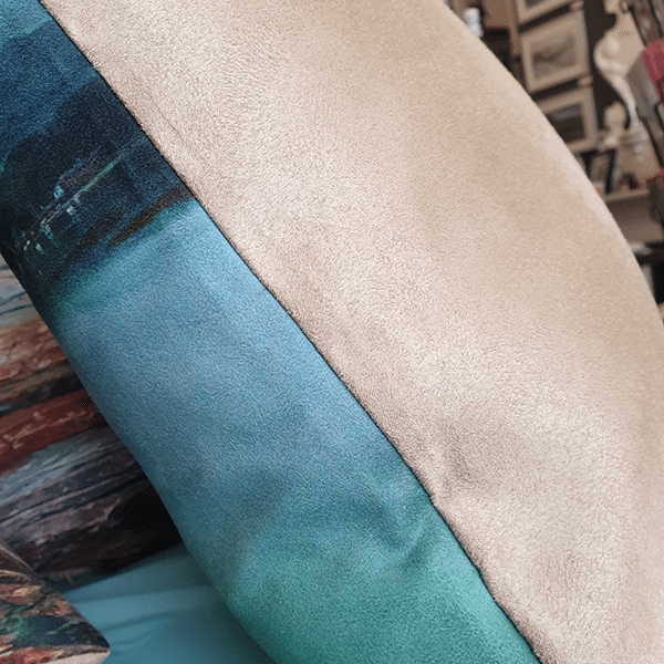 Sea View cushion by Sarah Rowley @roanaokeart